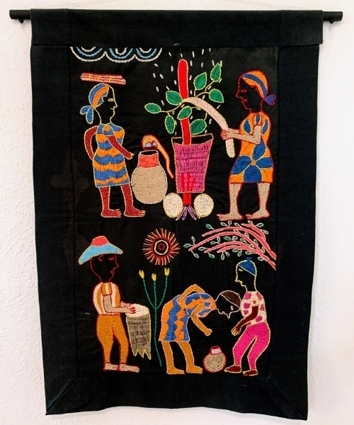 Embroidered Art – Fabric of Community SOLD