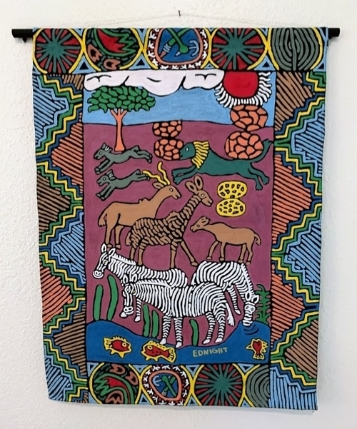 zimbabwean painted fabric art kutsinhira oregon