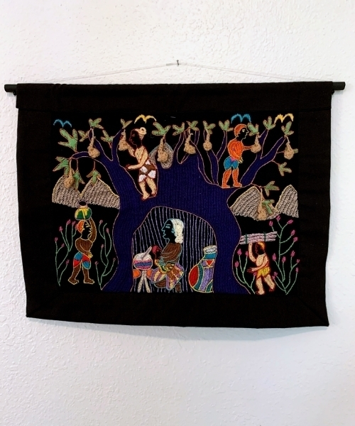 zimbabwean embroidered fabric art kutsinhira oregon