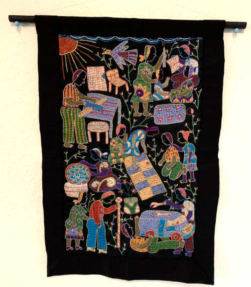 Embroidered Art – Village Life