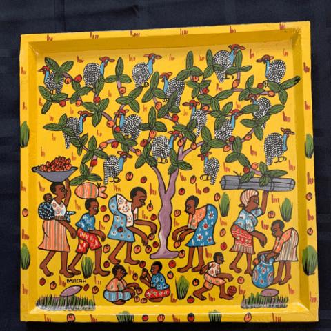 Painted Tray – Picking Wild Fruit